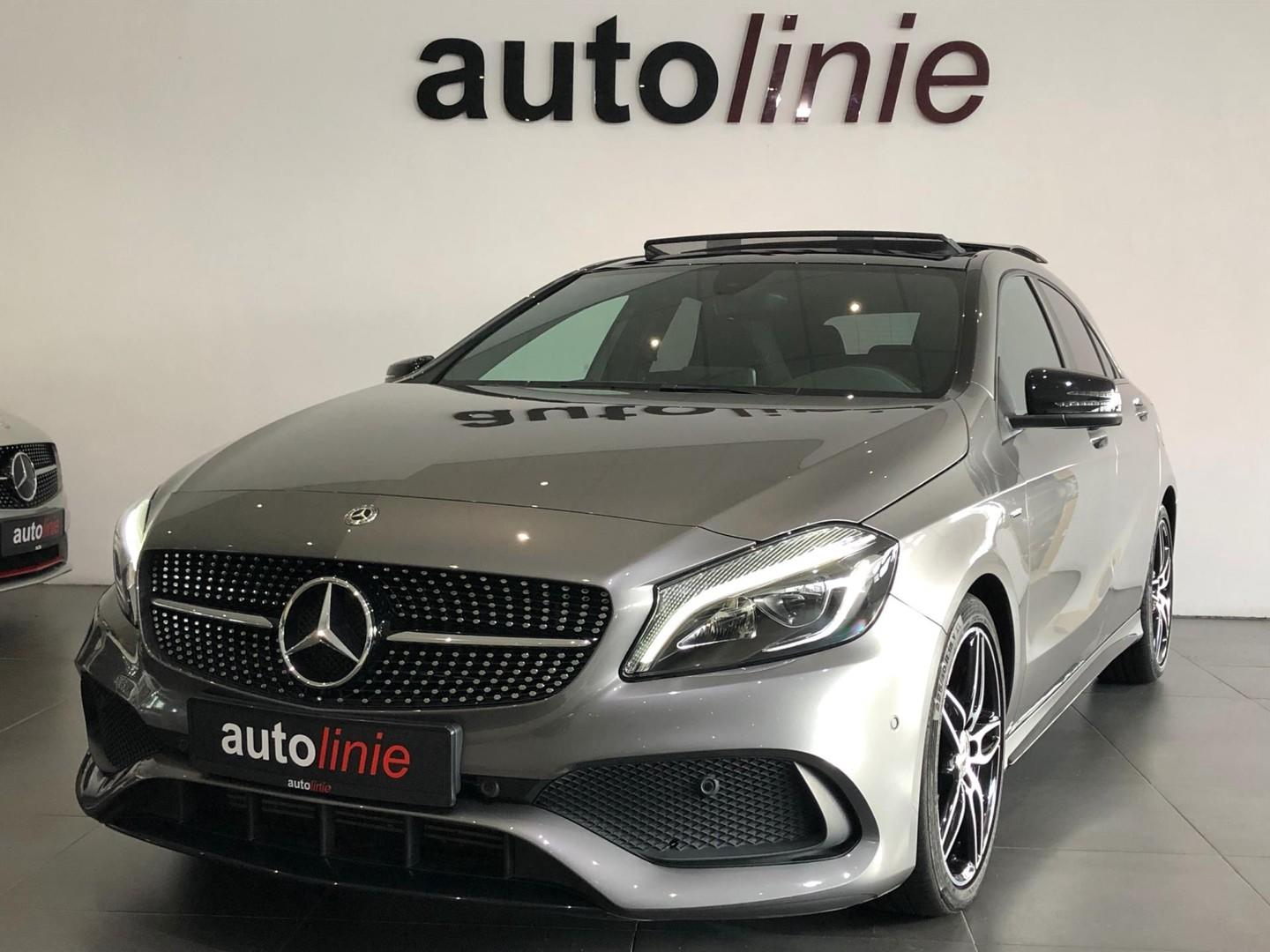 Mercedes-benz A-klasse 180 amg-line peak edition night, pano
