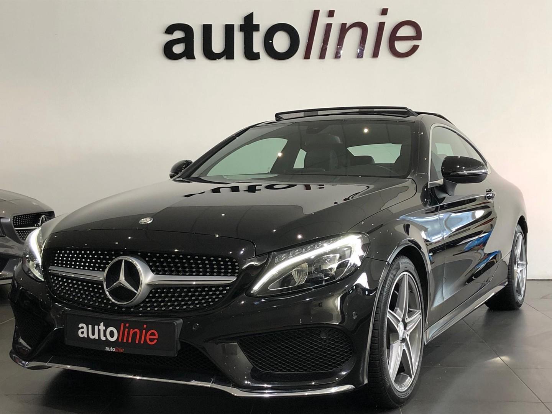 Mercedes-benz C-klasse Coupé 200 , amg-line,pano,leder,navi!