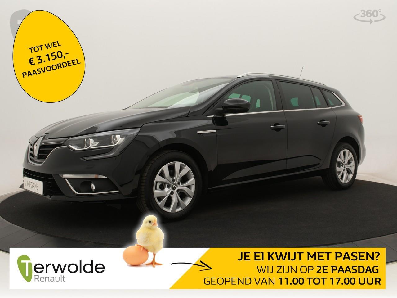 Renault Mégane Estate 115 tce limited nieuw en uit voorraad leverbaar! € 3.459,- korting ! financieren tegen 2,9% rente! private lease mogelijk