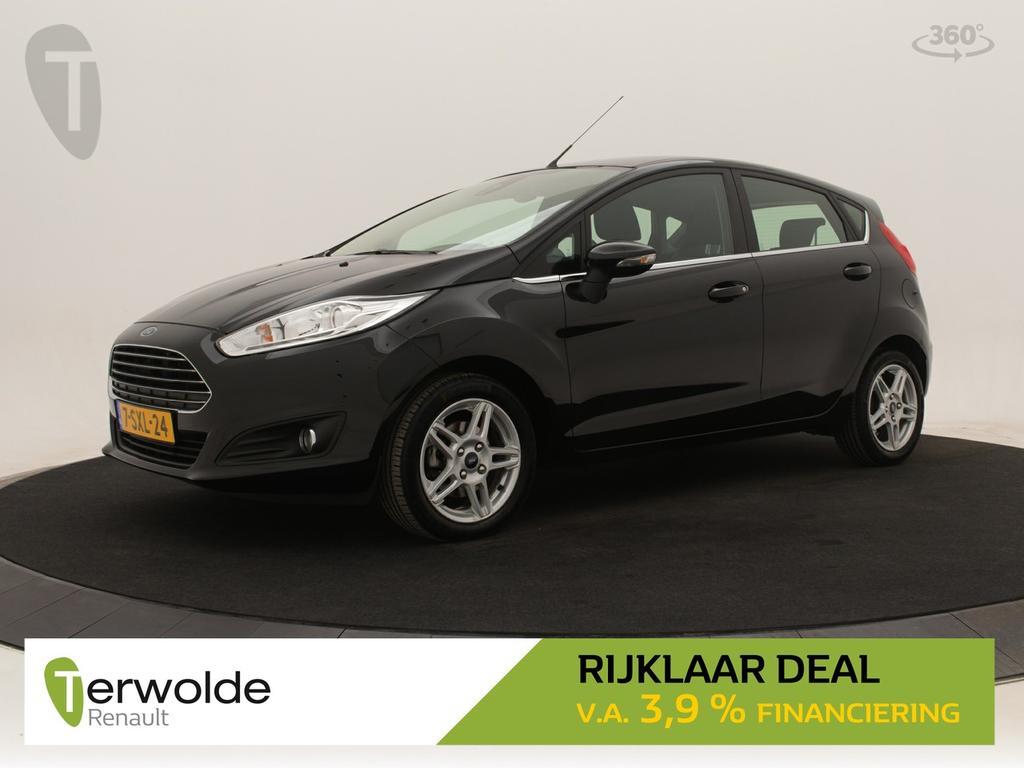 Ford Fiesta 1.0 ecoboost 100pk titanium 5drs navigatie i climate control i parkeersensoren achter * rijklaar *