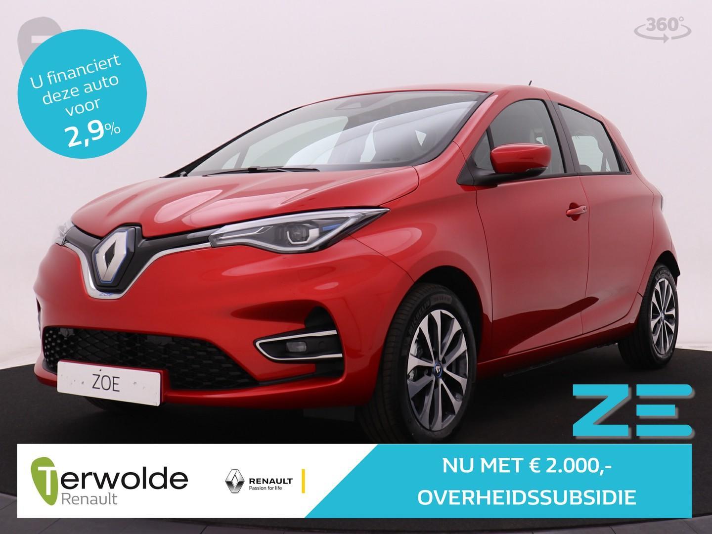 Renault Zoe R135 zen 50 accuhuur!! 4% bijtelling ! € 2.000 subsidie navigatie i cruise control i keyless