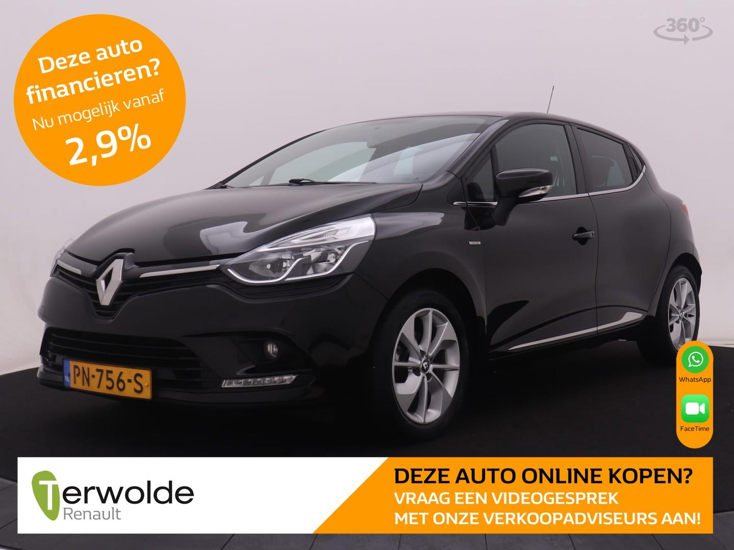 Renault Clio 90pk tce limited airco i navigatie i cruise control