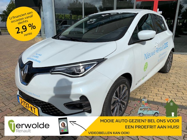 Renault Zoe R135 intens 50 accuhuur navigatie i climate control i parkeersensoren € 2.000 overheidssubsidie, 8% bijtelling