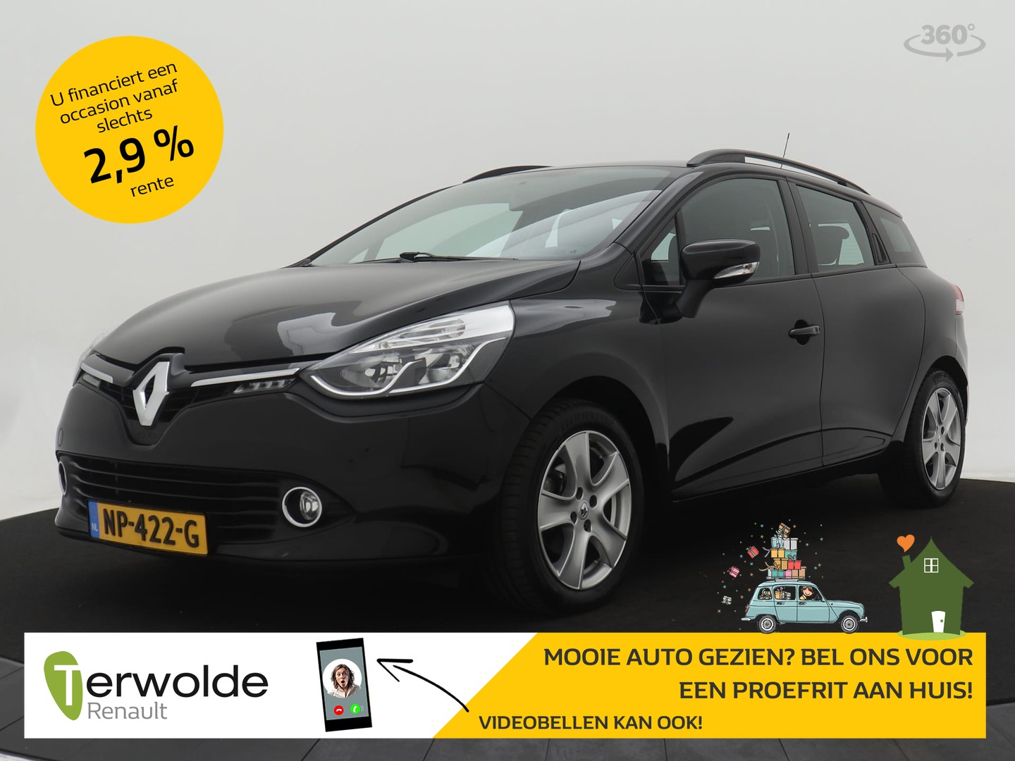 Renault Clio Estate 1.2 120pk expression edc automaat navigatie i airco i cruise control proefrit aan huis is mogelijk!
