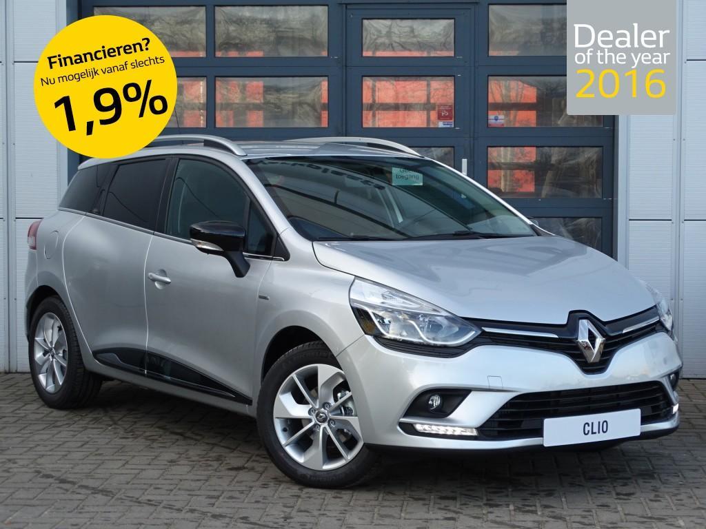 Renault Clio Estate tce 90pk limited normaal rijklaar 20.585,- nu rijklaar 18.685,- , nu speciaal voorraad voordeel/direct rijden