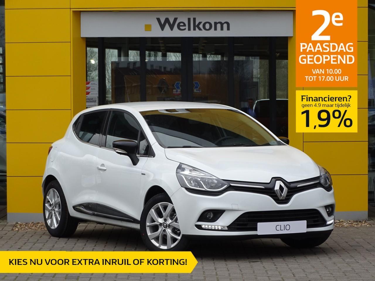 Renault Clio Tce 90pk limited normaal rijklaar 19.195,- nu rijklaar 16.895,-