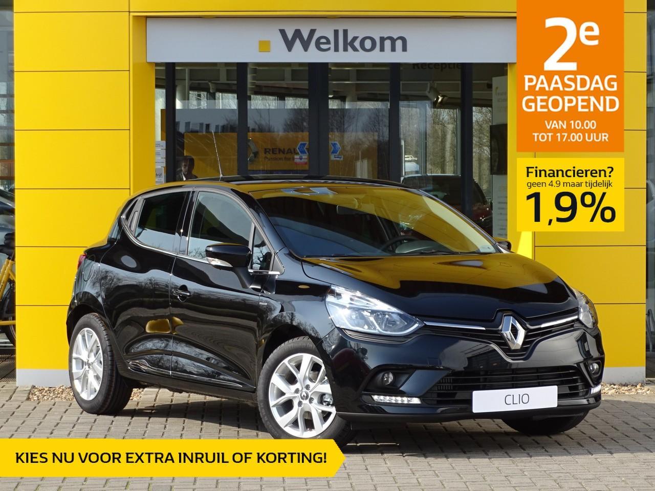 Renault Clio Tce 90pk limited normaal rijklaar 19.895,- nu rijklaar 17.595,-
