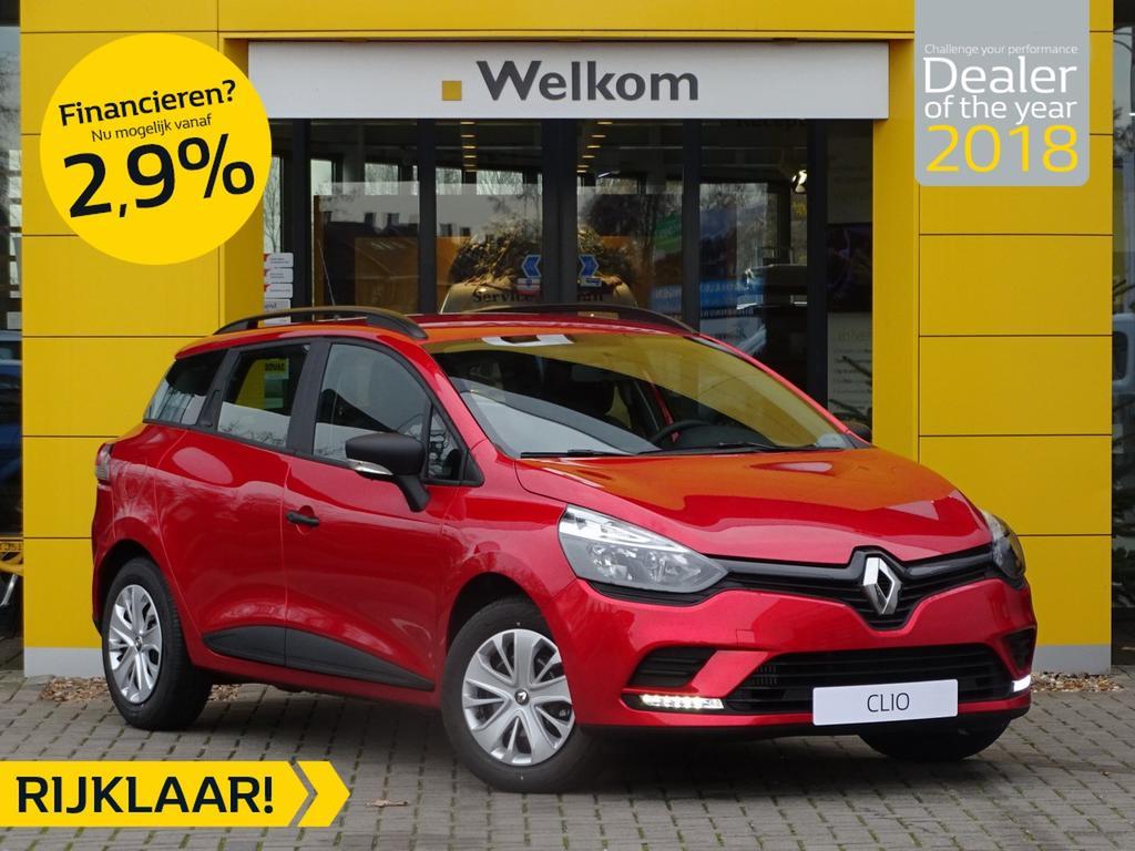 Renault Clio Estate tce 90pk life normaal rijklaar 19.685,- nu rijklaar 17.385,-