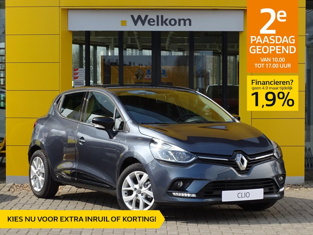 Renault Clio Tce 90pk limited normaal rijklaar 19.795,- nu rijklaar 17.495,-