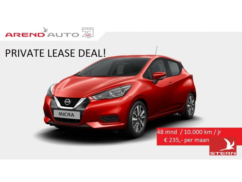 Nissan Micra New private lease €235,- per maand 10.000 km 48 maanden