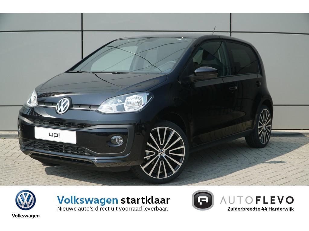 "Volkswagen Up! 1.0 60pk high up! / climate control / cruise control / dab+/ lmv 17"" / black pakket / achteruitrijcamera"