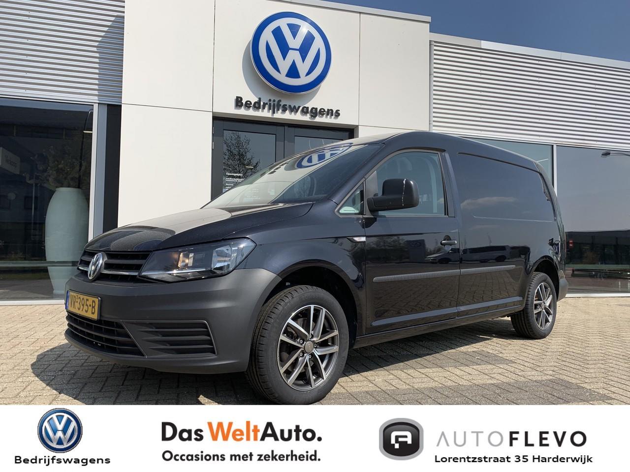 Volkswagen Caddy maxi 1.6 tdi l2h1 trendline airco / zwart / lichtmetalen velgen