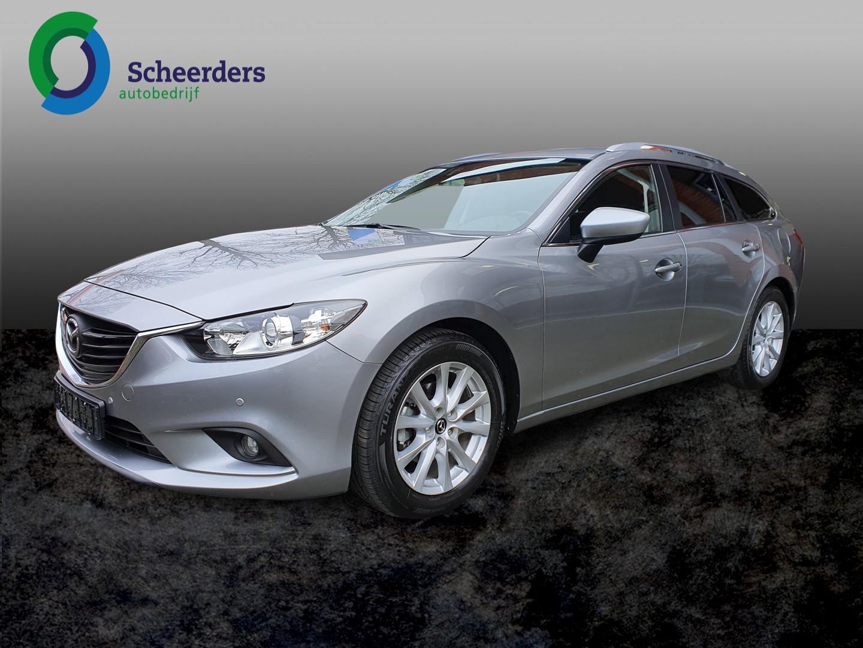 Mazda 6 Sportbreak 2.0 hp ts+ automaat, navi, pdc v+a 1 jaar garantie