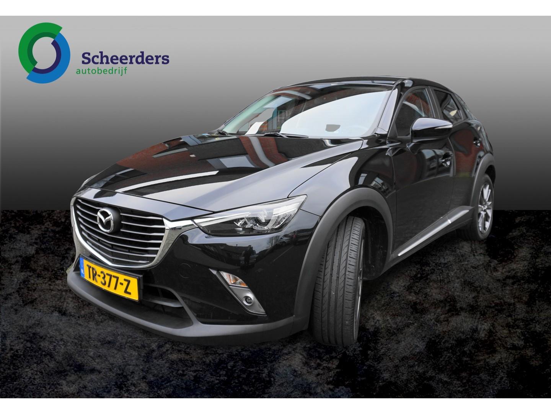 Mazda Cx-3 2.0 skyactiv-g 120 gt-luxury, navi,1 jaar garantie