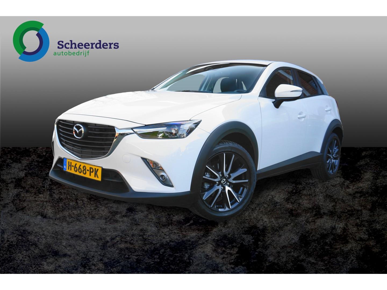 Mazda Cx-3 2.0 skyactiv-g 120 ts+ navi, pdc achter,1 jaar garantie