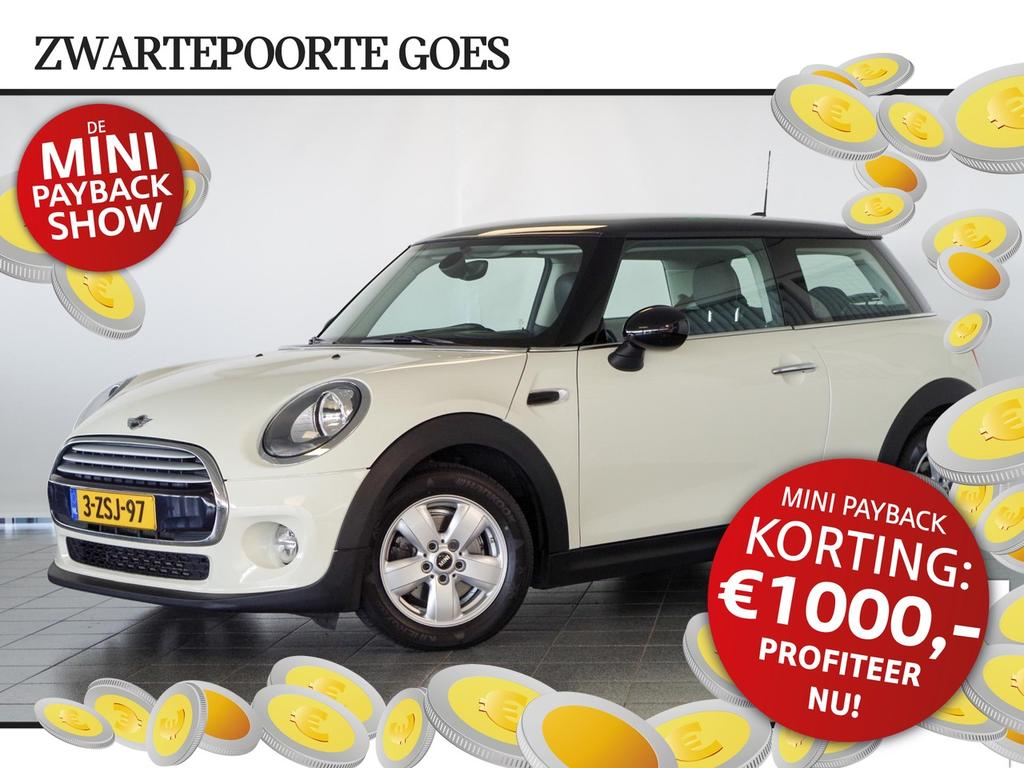 Mini 3-drs 1.5 cooper navi pro / head-up display / climate control ontvang € 1000,- korting!
