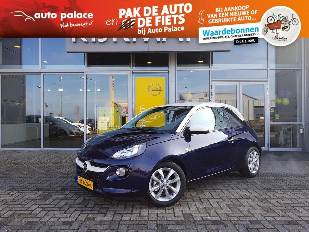 """Opel Adam Unlimited 1.0t 90 pk - 3drs - 16"""" lmv - wit dak"""
