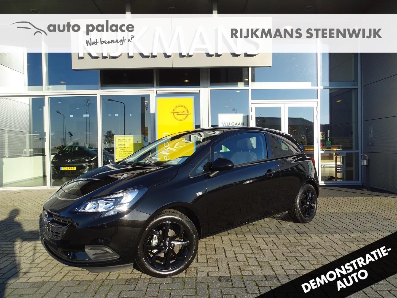 Opel Corsa Black edition 1.4 90 pk 3drs - navi - zwarte lmv - sportief
