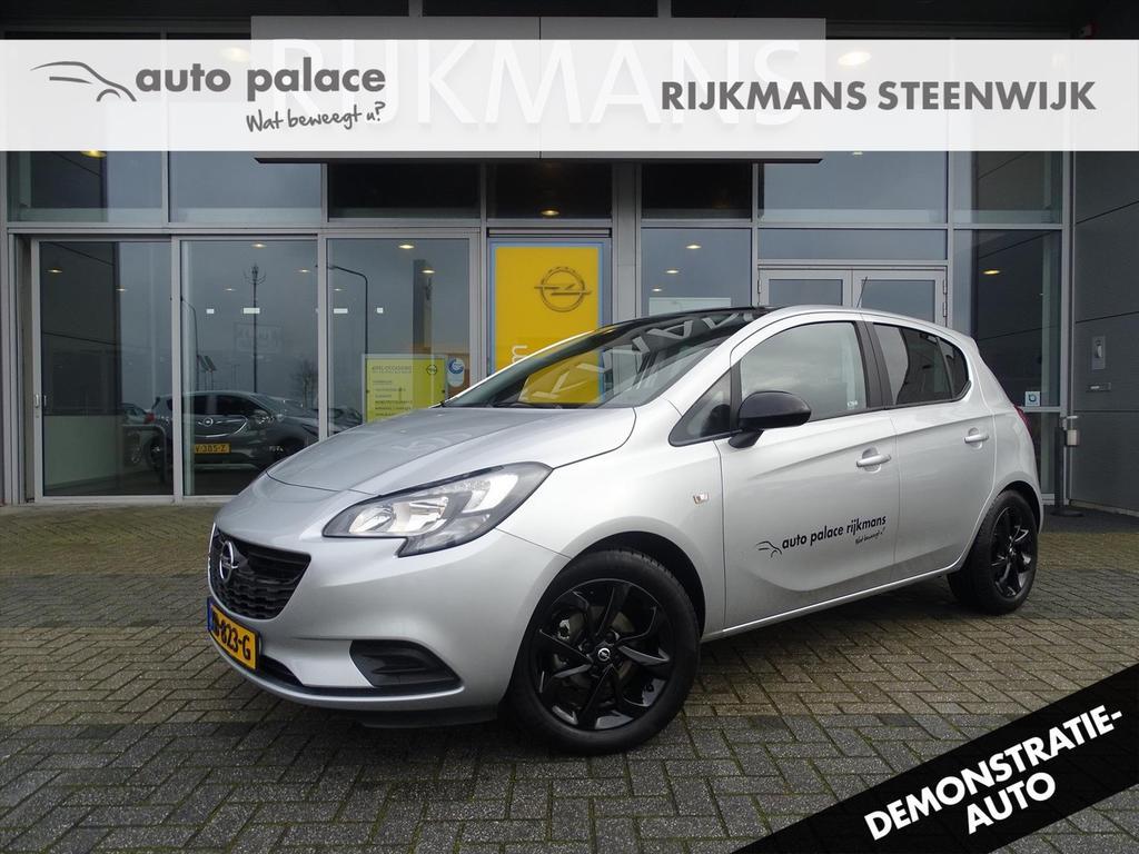 Opel Corsa Black ed. 1.4 90 pk 5drs - navi - zwarte lm velg - airco