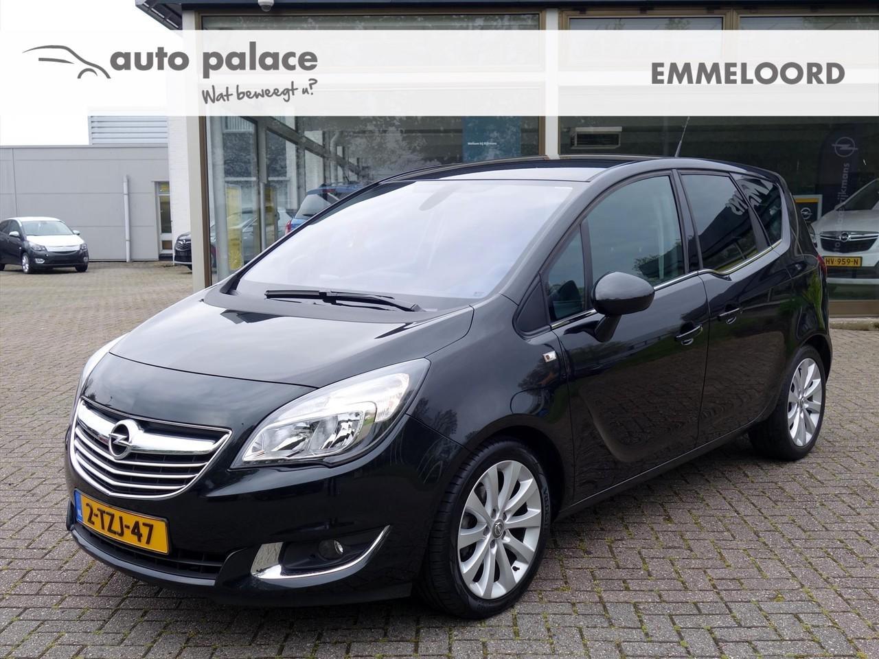 """Opel Meriva 1.4 turbo 120pk cosmo navi-650 leder agr parkpilot 17""""lm-velgen"""