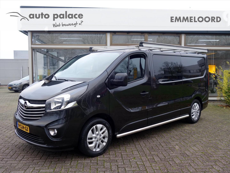 Opel Vivaro Dub.cabine 1.6 cdti biturbo 120pk l2/h1 sport navi parkpilot side-bars lm-velgen betimmering trekhaak