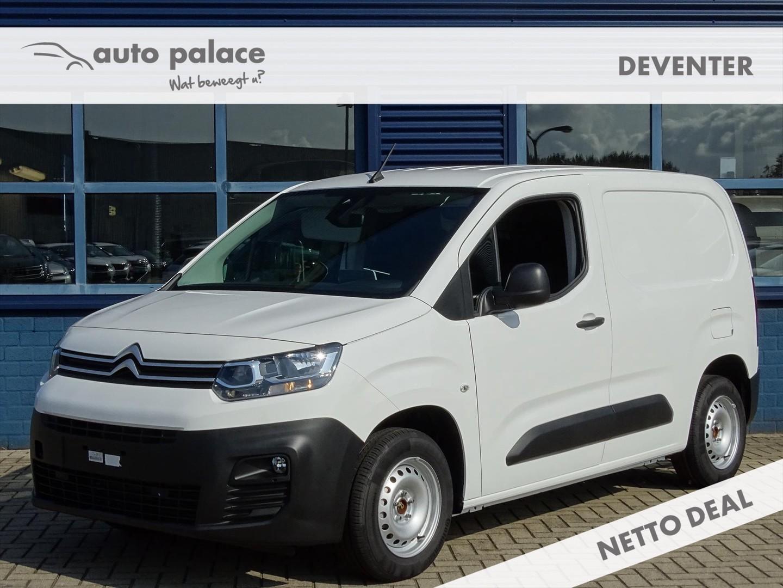 Citroën Berlingo Van 1.6 bluehdi 100pk club 1000kg, multimedia, airco, passagiersbank