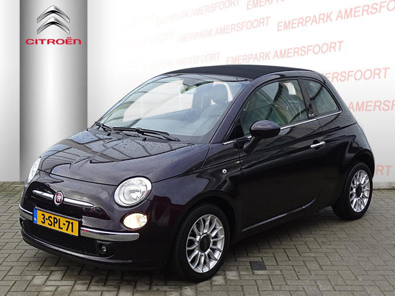 Fiat 500c Cabrio automaat lounge/tom tom/ bluetooth