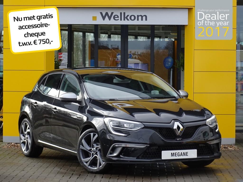 Renault Mégane Tce 205pk edc gt normaal rijklaar 38.385,- nu rijklaar 36.995,- + gratis accessoirecheque twv 750,-