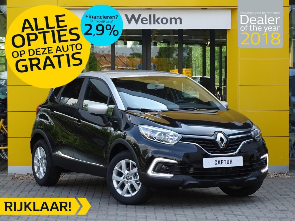 Renault Captur Tce 90pk limited normaal rijklaar 24.250,- nu rijklaar 20.250,- incl gratis opties