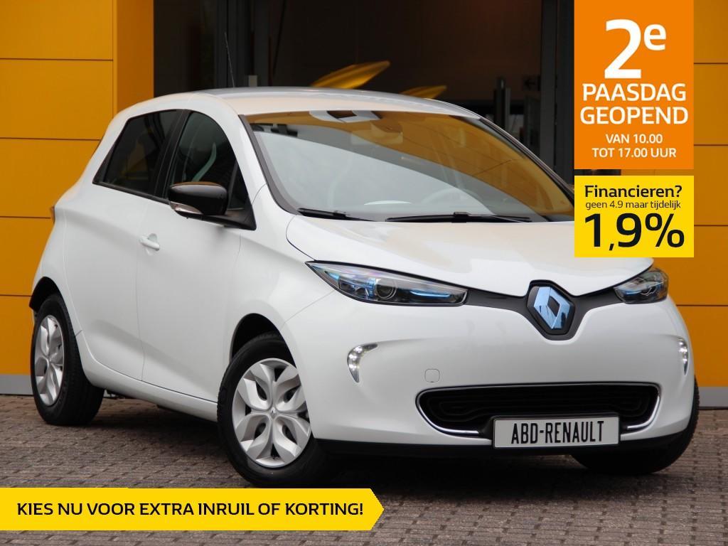 Renault Zoe R90 life z.e. 40 normaal rijklaar 33.450,- nu rijklaar 31.950,- + gratis laadpaal of greenflux laadpas