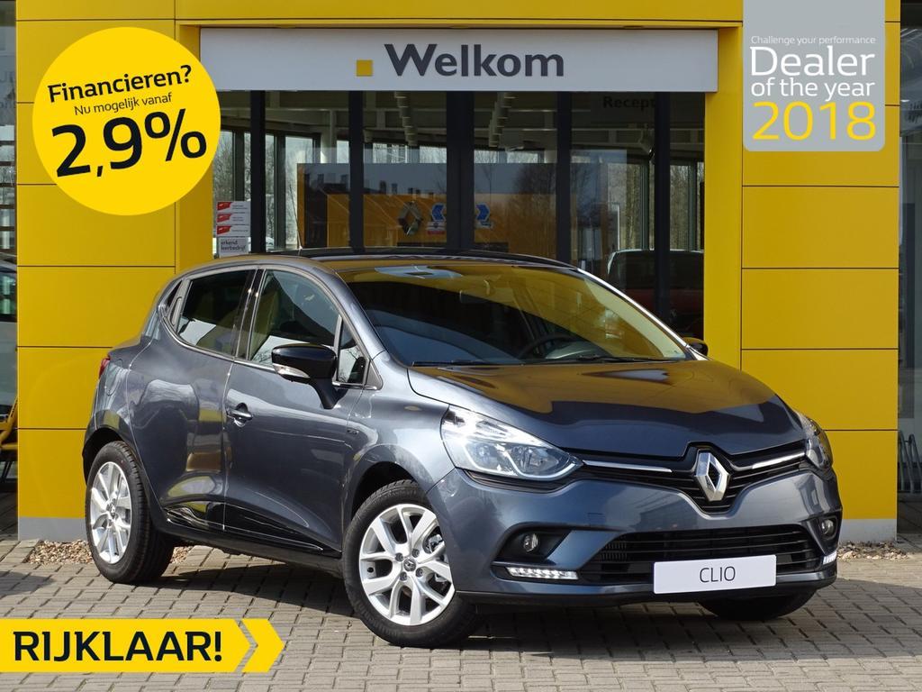 Renault Clio Tce 90pk limited normaal rijklaar 20.095,- nu rijklaar 17.795,-