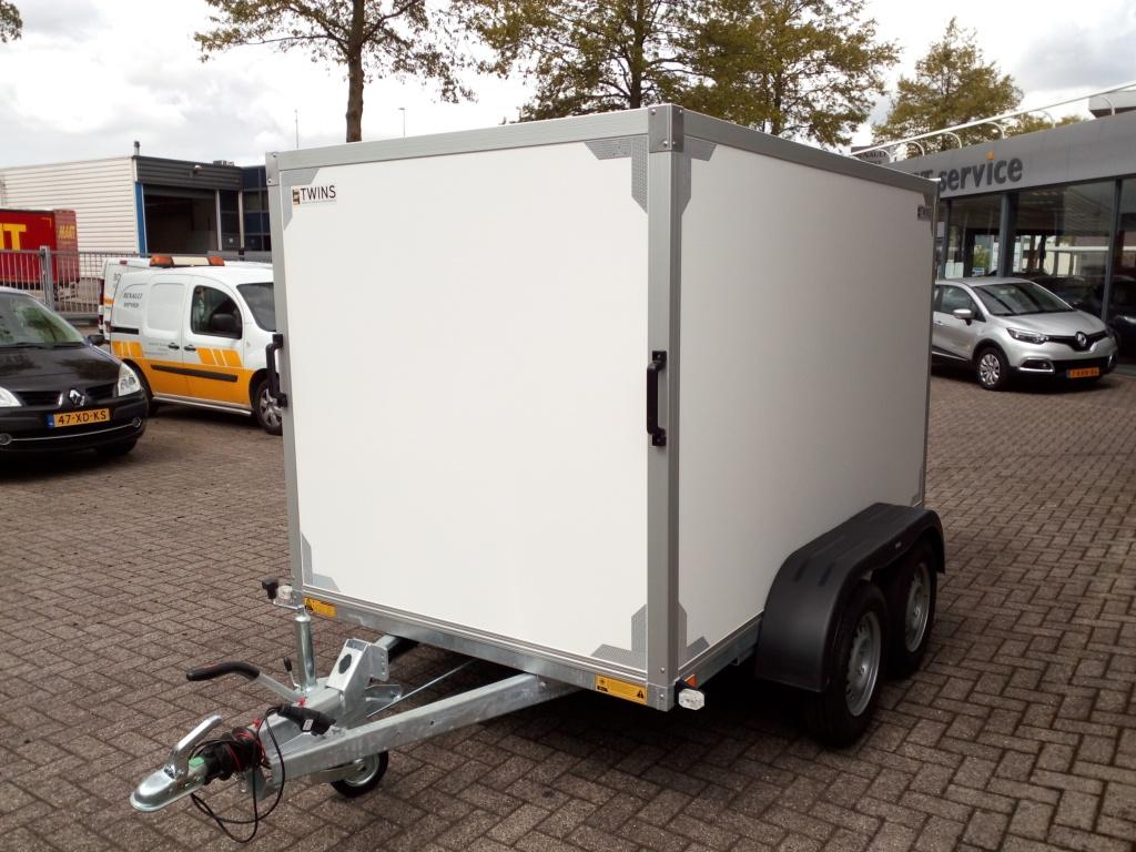 Twins trailers Gesloten aanhangwagen Dubbele as