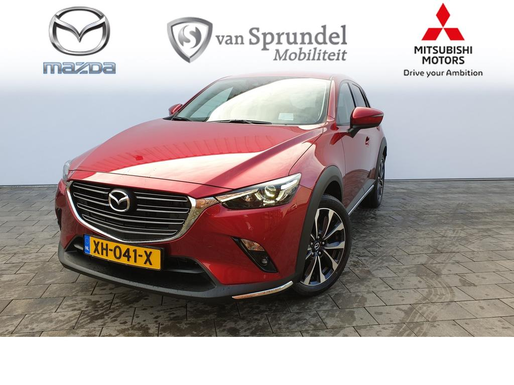 Mazda Cx-3 2.0 skylease-gt automaat black leather pack .