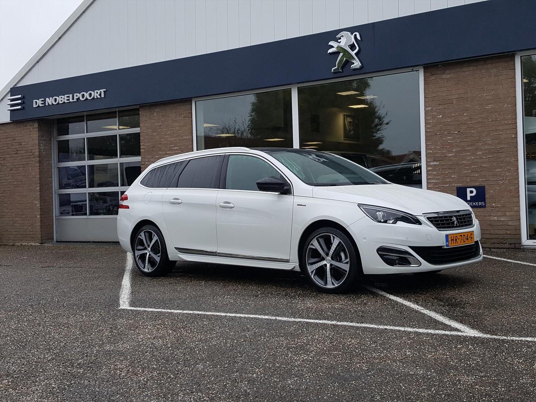 Peugeot 308 Sw gt-line 1.2pt-130pk navigatie,camera met parkhulp v+a,panoramadak,lmvelgen18inch z/w