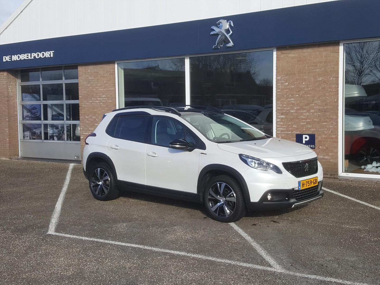 Peugeot 2008 Gt-line 1.2 pt-110pk volautomaat(eat6) climate control,navi,camera&parkhulpv/a, bt stoelverwarming