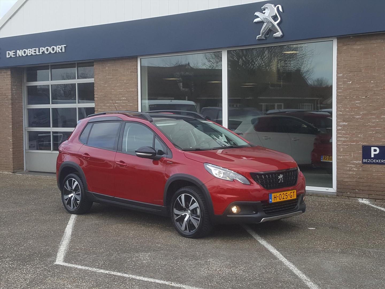 Peugeot 2008 1.2 puretech 110pk gt-line (vol)automaat eat6 navigatie&bluetooth, parkhulp v/a/parkeercamera climate panodak bt lm-velgen stoel