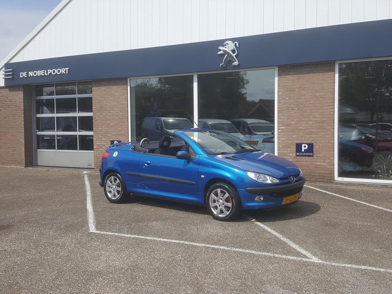 Peugeot 206 1.6 16v cc coupe lm-velgen, windscherm, achterklepspoiler! leuke cabrio voor weinig geld