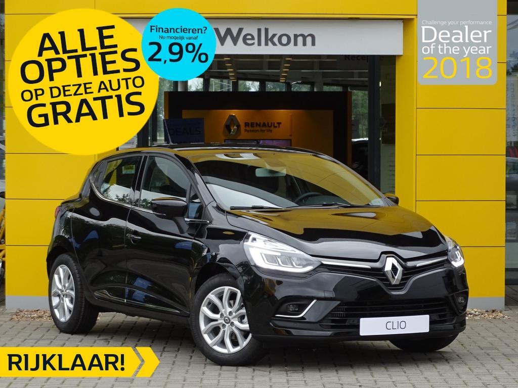 Renault Clio Tce 90pk intens incl. gratis opties normaal rijklaar 21.375,- nu rijklaar 18.595,-