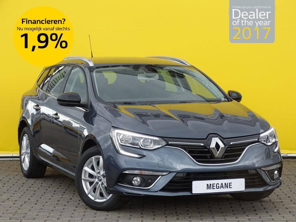 Renault Mégane Estate 1.5 dci 110pk limited normaal rijklaar 29.725,- nu rijklaar 28.425,-