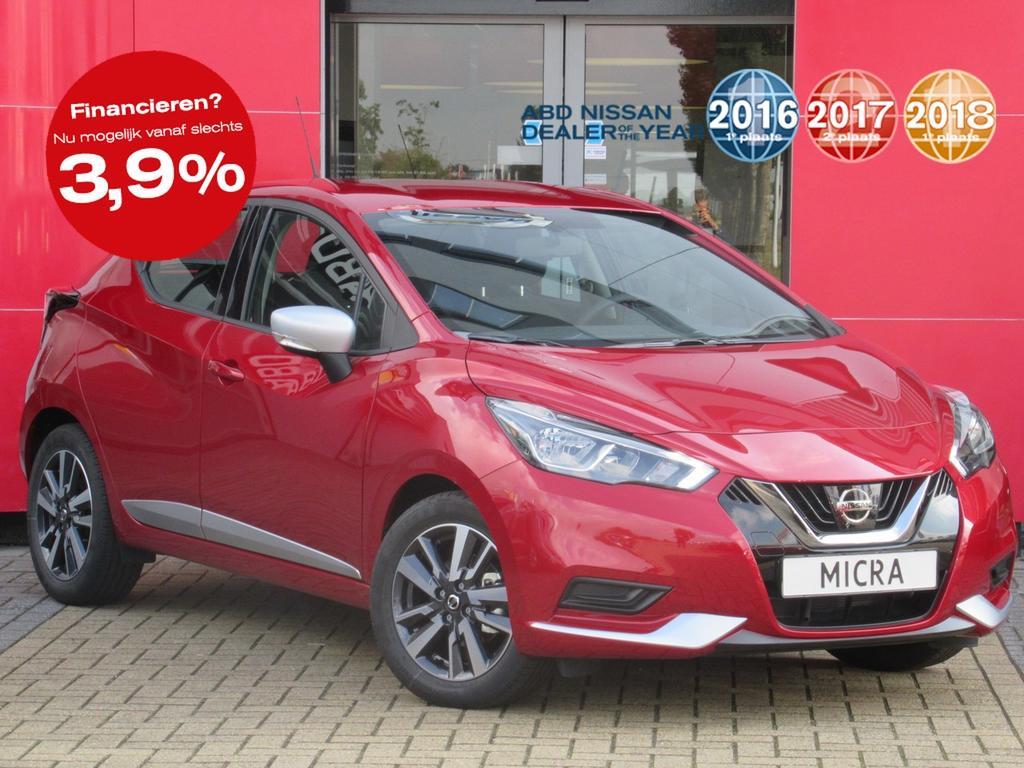 Nissan Micra 1.0l acenta normaal rijklaar voor €19.350,- nu rijklaar voor €17.350,-