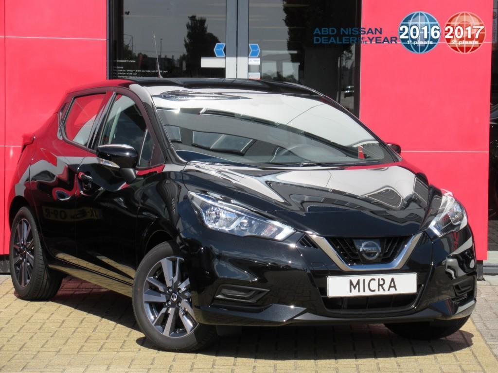 """Nissan Micra 0.9 ig-t acenta 16"""" licht metalen velgen/connect pack nu rijklaar van € 20.471,- voor € 18.450,-"""