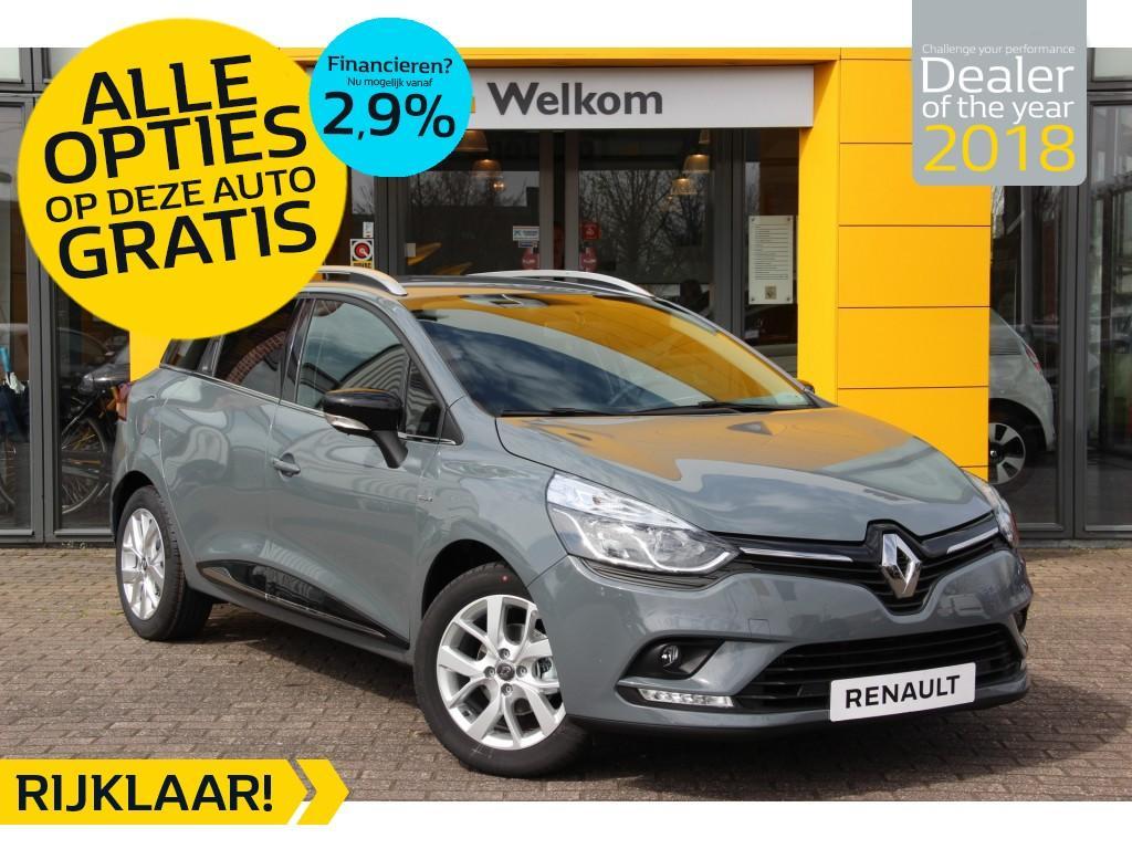 Renault Clio Estate tce 90pk limited normaal rijklaar voor € 21.087,- nu rijklaar voor € 18.750,- incl. gratis opties