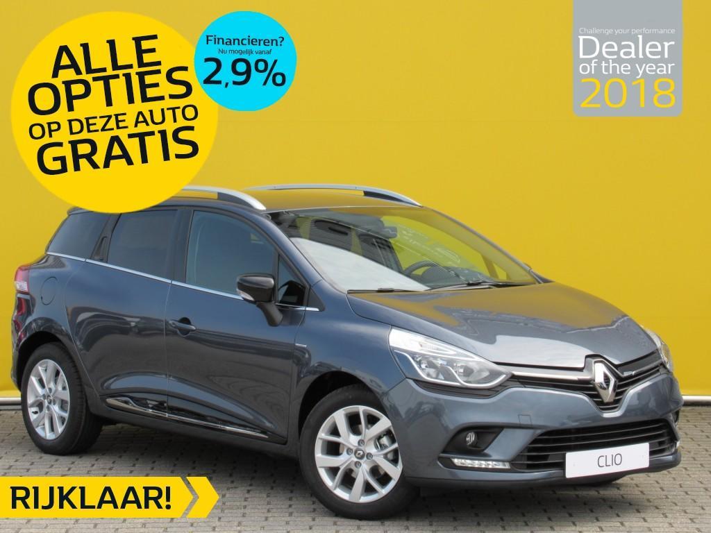 Renault Clio Estate tce 90pk limited normaal rijklaar voor € 21.287,- nu rijklaar voor € 18.950,- incl. gratis opties