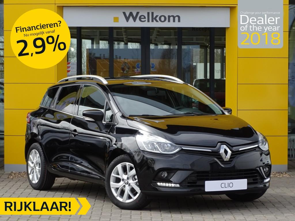 Renault Clio Estate tce 90pk limited normaal rijklaar voor € 21.287,- nu rijklaar voor € 18.950.-