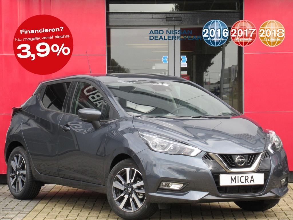 Nissan Micra Ig-t 90pk n-connecta n-way normaal rijklaar € 21.227,- nu rijklaar € 17.950,-