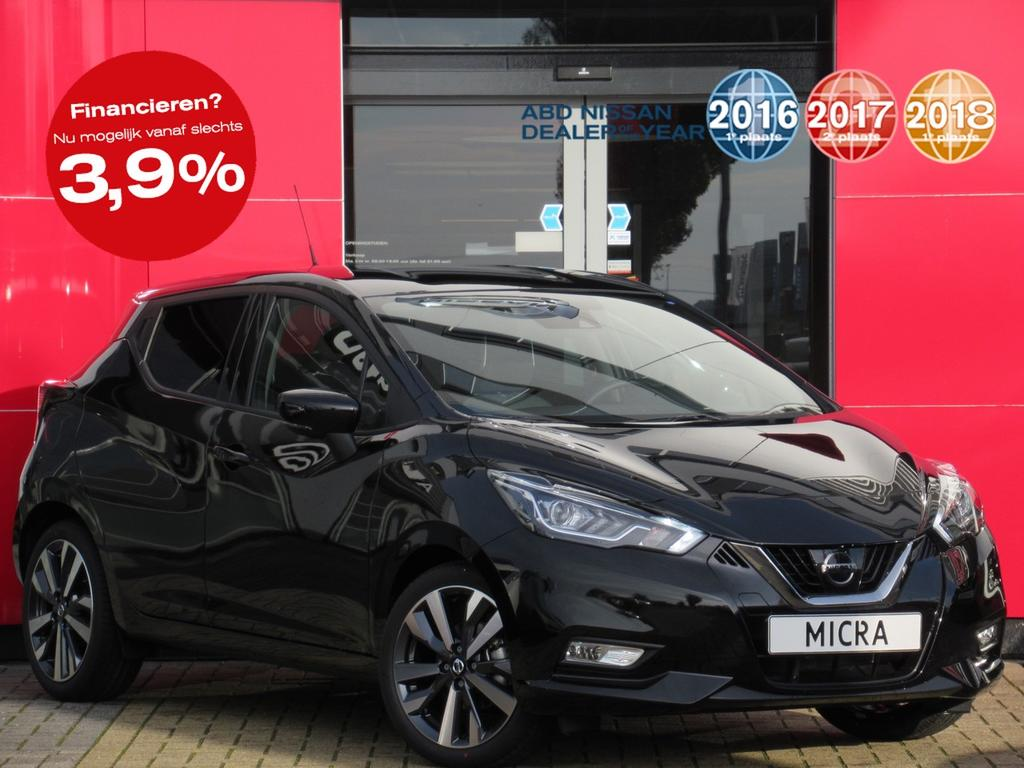 Nissan Micra Ig-t 90 pk tekna normaal rijklaar voor € 23.727,- nu rijklaar voor € 19.999-