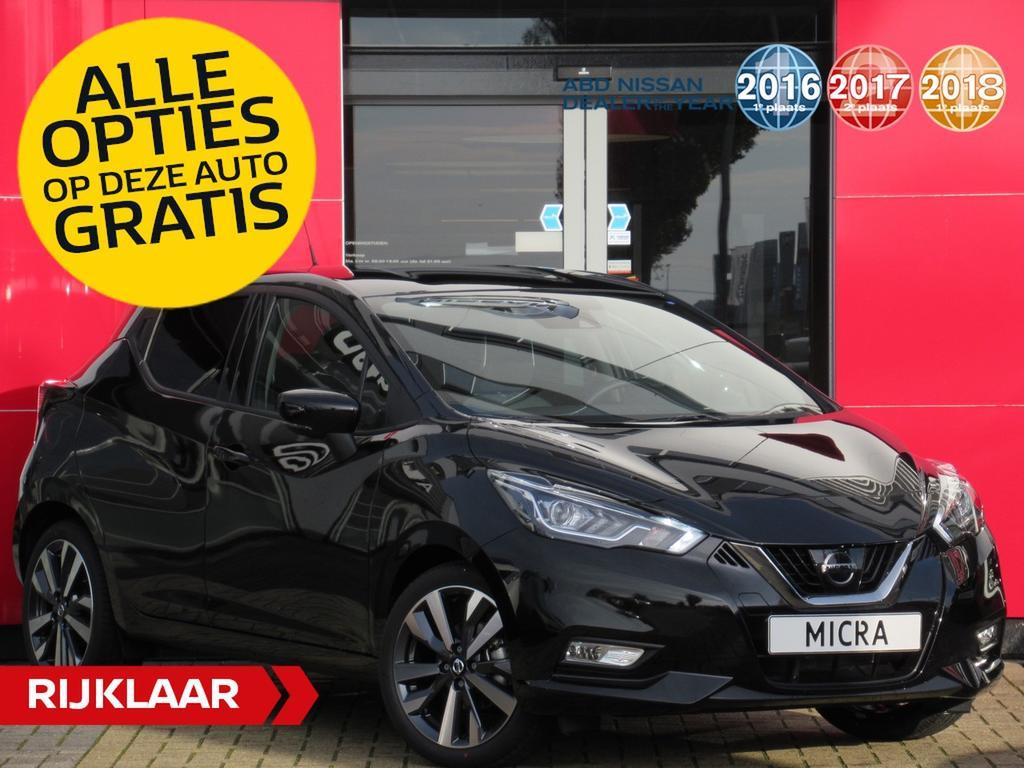 Nissan Micra Ig-t 90 pk tekna normaal rijklaar voor € 23.727,- nu rijklaar voor €22.350,- incl. gratis opties