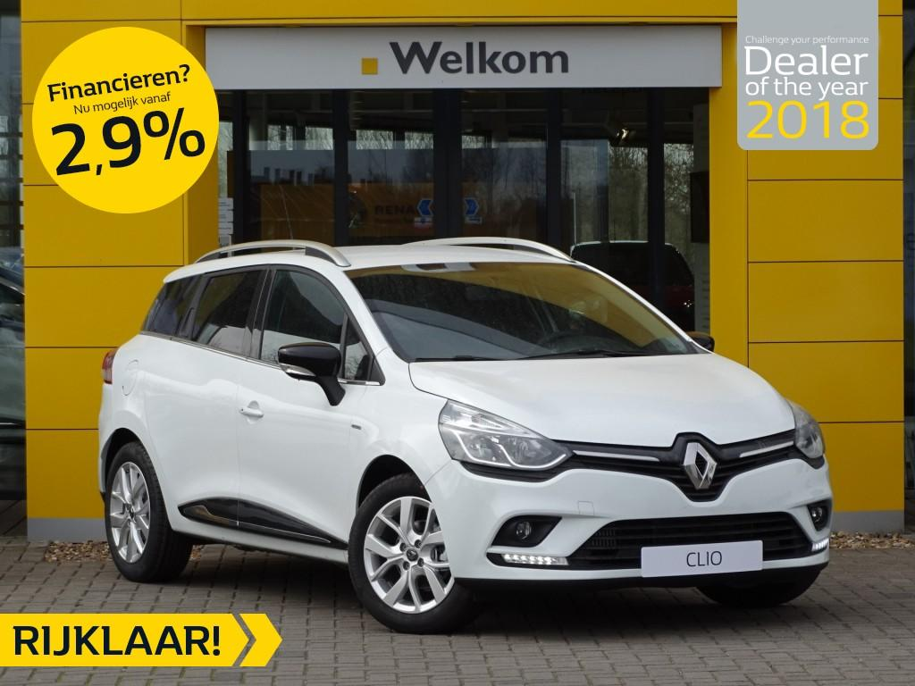 Renault Clio Estate tce 90pk limited normaal rijklaar voor € 20.887,- nu rijklaar voor € 18.500,-