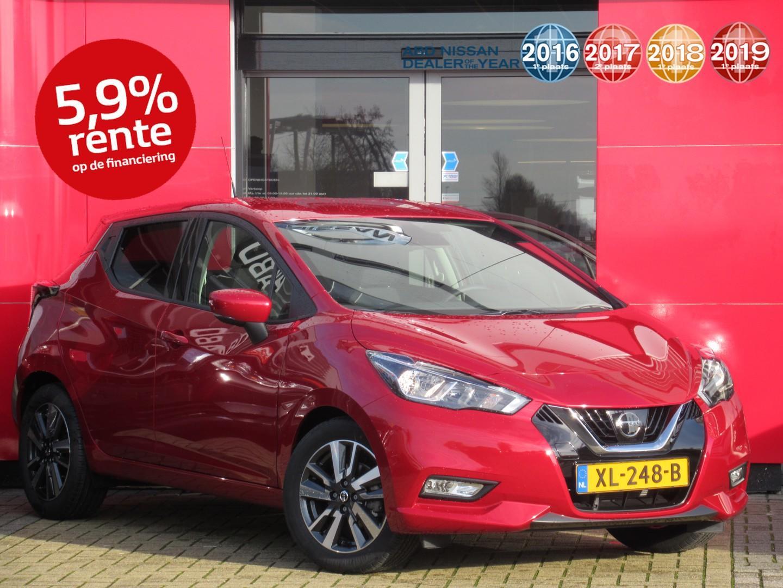 Nissan Micra Ig-t 100pk n-connecta nieuwprijs normaal € 22.427,- nu € 20.999,-
