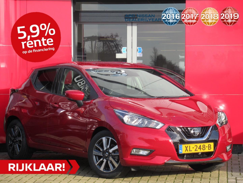 Nissan Micra Ig-t 100pk n-connecta normaal rijklaar € 22.427,- nu rijklaar voor € 20.999,-